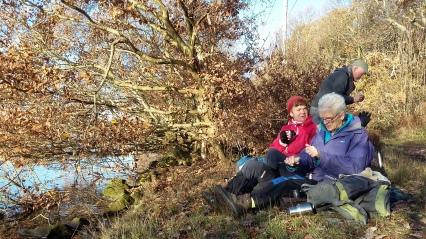 Angie & Ros at Treeton Dyke, Christmas 2016